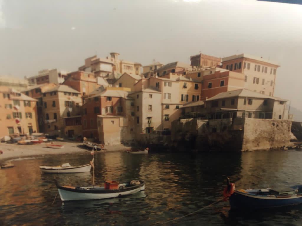 Vista storica di Bocaddasse a Genova