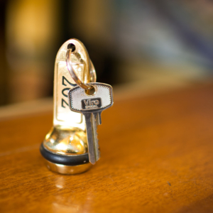 Dettaglio chiave delle camere