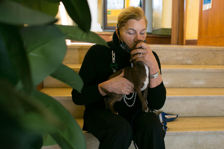 Lina con il suo cagnolino