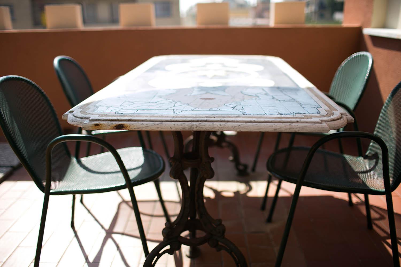 Tavolo terrazza hotel